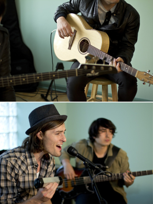 Some stills from today's performance & interview with @Parachute - thanks for coming by guys, have fun in Chicago!