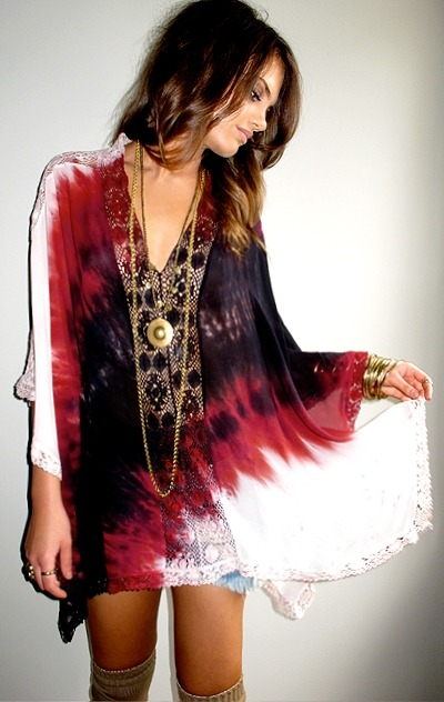 absolutely adore this bohemian tunic dress. flowy, embroidered, tie-dyed… yep, I'm in love.  xx sammy