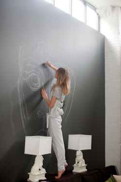 serene-infinity:  wow, i wish i had a wall like this! i could draw something new everyday :))))