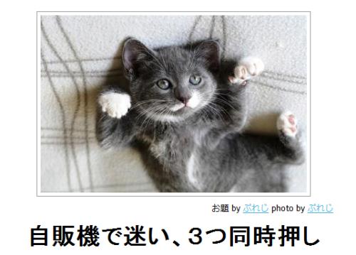 ekyu:   ボケて(bokete): 【ボケ】自販機で迷い、3つ同時押し   可愛いっ!