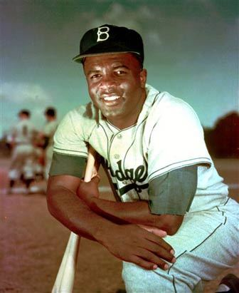 "Jackie Robinson. Serious Badass. #42 On April 15, 1947, about two miles away due East from where I type, the great Jackie Robinson broke the ""color barrier"" by taking the field at Ebbets Field in Brooklyn, New York, and integrating Major League  Baseball. Stepping on the field to play a kids game, he paved the way for US societal integration and the civil rights movement. His iconic #42 has been retired for all MLB teams and only Marino Rivera of the New York Yankees still uses that number. But today on April 15th, every MLB player wears #42 in honor of the pioneering role he played in modern American history.  Thank you Jackie Robinson! Thank You! Thank You! Brooklyn Represent Yo!"