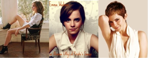 "lo-cotidiano:   Tamora Pierce fancast Alianne of Pirate's Swoop played by Emma Watson, the Daughter of the Lioness/Trickster series.  ""Curiosity killed the cat,"" Fesgao remarked, his dark eyes unreadable.  Aly rolled her eyes. Why did everyone say that to her? ""People always forget the rest of the saying,"" she complained. ""'And satisfaction brought it back.""      I love the idea as her as Aly!"