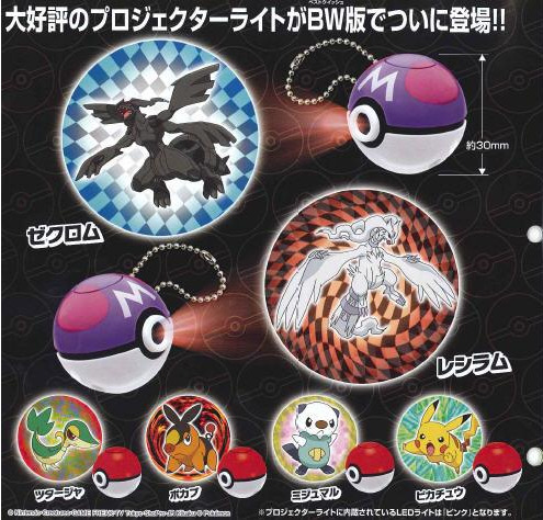 "Pokemon Projector Light Black and White Set. I like the idea of ""projector"" toys like these, which apparently shine bright, colorful images on the wall. I especially like the idea of these for Pokemon, because you could totally pretend to call them from the Pokeball-shaped projector and then make them fight. And I'll own that. I'm a 30-year-old man and I want to to have flashlight battles on the wall. I think my cats would like that too. Buy: Pokemon Black/White ($29.99), Official Strategy Guide See also: More Pokemon posts"