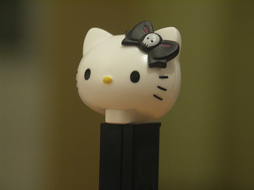 Black Hello Kitty Pez