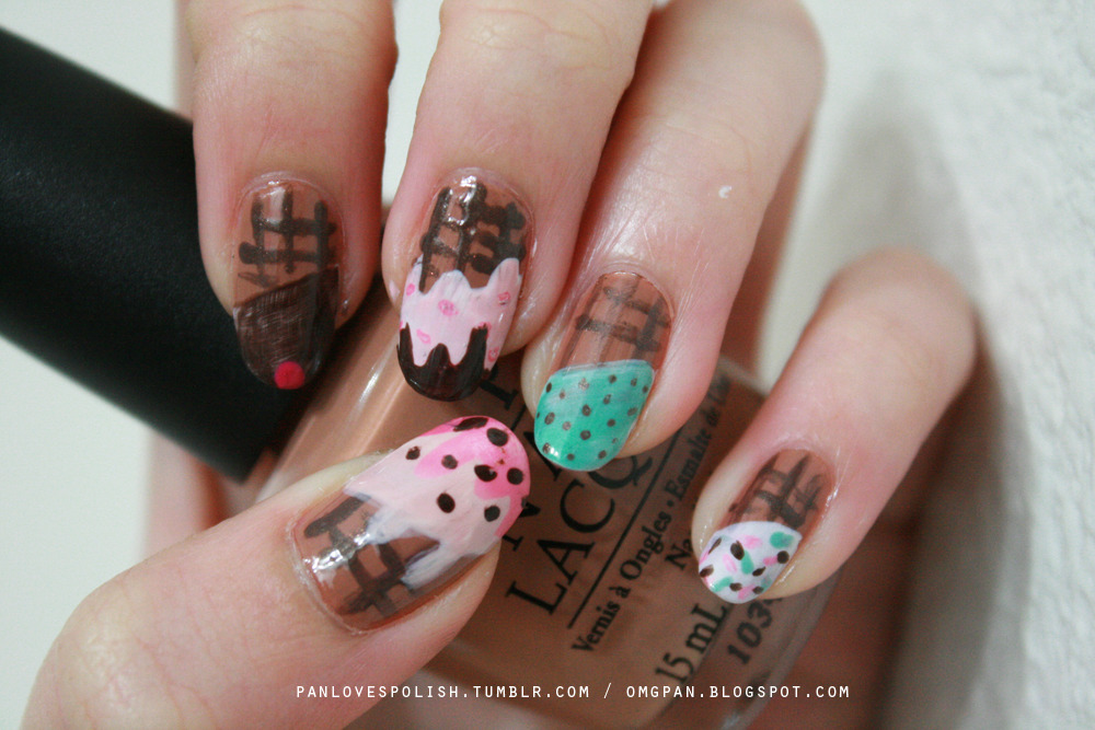 Ice cream cone nails. See more @ my blog, here.