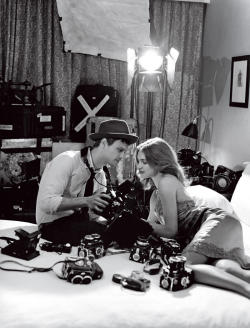 Natalia Vodianova and Matthew Gray Gubler by Bruce Weber