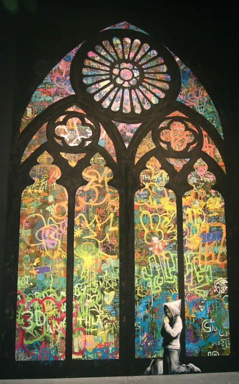 New Banksy - Stained Window (via)