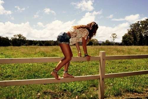 jumping fences! heck yes!