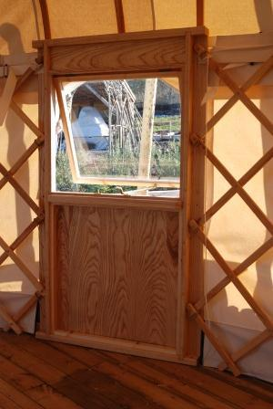 Some yurts come with windows.