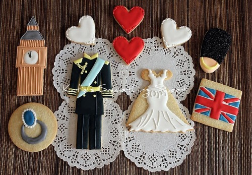 boyfriendreplacement:  Prince William and Kate Middleton wedding cookies Recipe