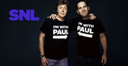 Watching SNL with the Pauls »> Paul Rudd & Sir. Paul McCartney