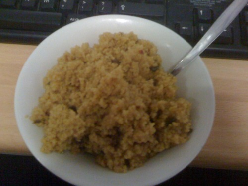 Days 19 to 21 - 13/4/11 to 15/4/11 Forgot two days worth of dinner, couscous and chicken with veg and spagetti carbonara :) not too bad though