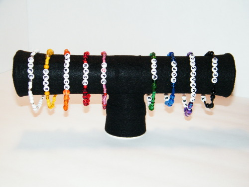 Taste the rainbow! The wearable Emotional Spectrum bracelet set. Can Currently be found in my shop. VISIT MY ETSY SHOP If you like any of the items I post, please reblog/forward. I'm trying to get a bit more traffic to my store. Please and thank you! =D