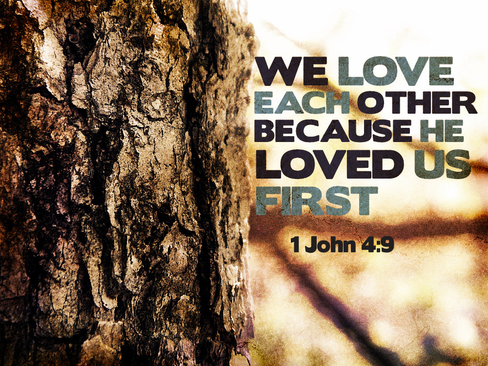 We love  each  other  because  He  loved  us first.