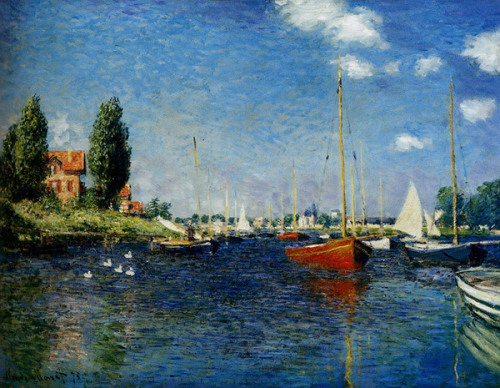 "Claude Monet ""Boats and Ships, Argenteuil"""