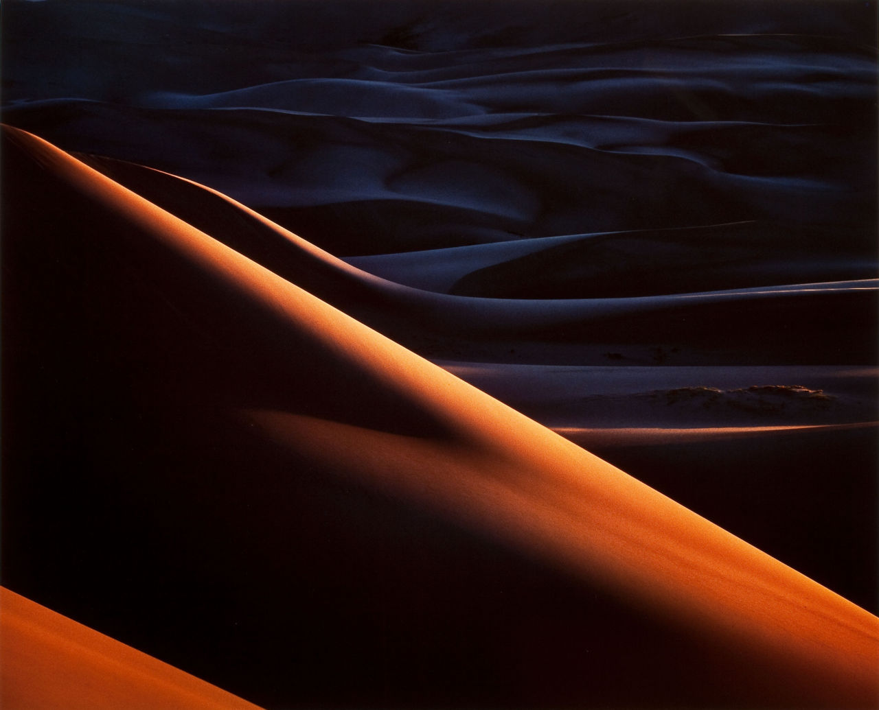 Christopher Burkett, Sunset, Great Sand Dunes, Colorado, 1980. Thank you, firsttimeuser.