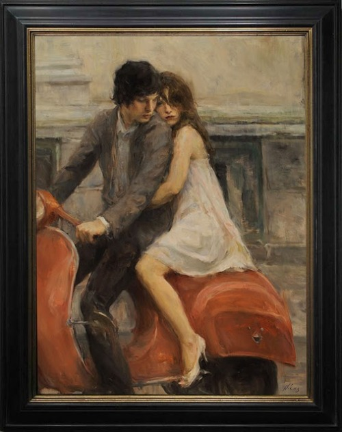 missingthejackandtheace:  Ron Hicks, Take Me Away, 47½ X 37½ in. framed