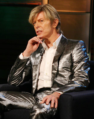 Wearing the disco-ball suit on the Tonight Show with Jay Leno