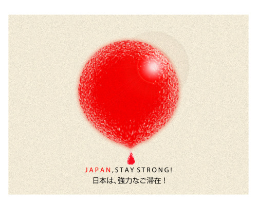 JAPAN, STAY STRONG! / Romario / Medan, Indonesia