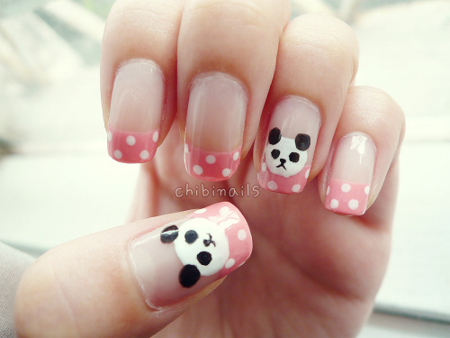 panda nails inspired by mimimemeko hey guys just wanna say sorry for the lack of updates nowadays. xinyi's packed with uni while i've got a full time job now. we barely have enough time to do our nails anymore ㅜㅜ we thank you guys so much for all the lovely messages but reaaally sorry if we don't reply to some of it coz there's just so many to respond to. but we really try our best to reply them as much as we can. also, PLEASE read our FAQ first before asking us any questions ㅜ_ㅜ;;  we will try to make more designs soon-ish! thanks for the love and support as always!