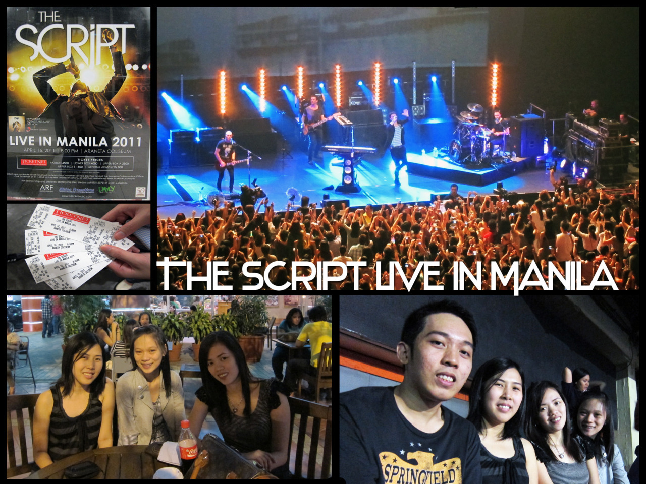 The Script Live in Manila It was the first concert i ever attended and I thank Kuya Ogie for this. :DDD I am speechless up 'til now. hahaha. The Script = Love