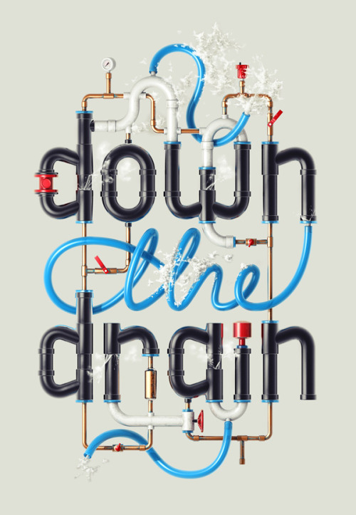 Down the Drain, illustration by Alex Beltechi.