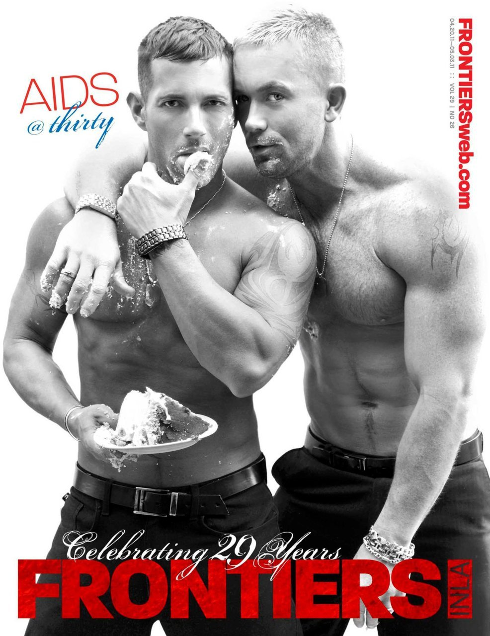Frontiers Magazine 29th Anniversary cover with Matt and Cameron - out Monday in SoCal