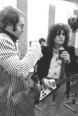 Elton John & Marc Bolan. Two legendary minds. (And you can just barely see Ringo in the background there.)