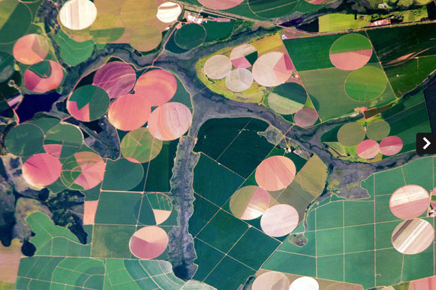 fuckyeahearthworks:  agricultural patterns photographed from space