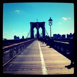 katespadeny:  perfect. (Taken with Instagram at Brooklyn Bridge)