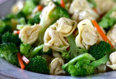 boyfriendreplacement:  Tortellini - Vegetable Salad with a Dijon mustard vinaigrette Recipe
