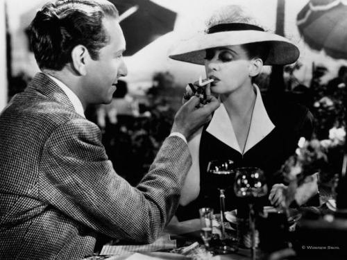 adeleblog:  Sunday morning: Now, Voyager (1942). Hey internet, please tell me there's a Paul Henreid Tumblr out there! He's the best. I have no problem buying that every line he delivers as Jerry (or Laszlo, in Casablanca) he came up with himself. Natural! Did you know - his real name was Paul Georg Julius Henreid Ritter von Wassel-Waldingau. Austrians are the coolest. As much as I love this movie, if I were Jerry and a beautiful woman I just met handed me a photo of herself, trying to prove that she used to be an ugly spinster, and then started crying and said that she just got out of a sanatorium… I'd be weirded out and probably wouldn't fall in love with her. Whatever, wartime melodramas for female audiences were pretty satisfying. Even if you whittle down Charlotte's transformation to a brow wax and new wardrobe, it still seems less self-involved than Eat, Pray, Love.