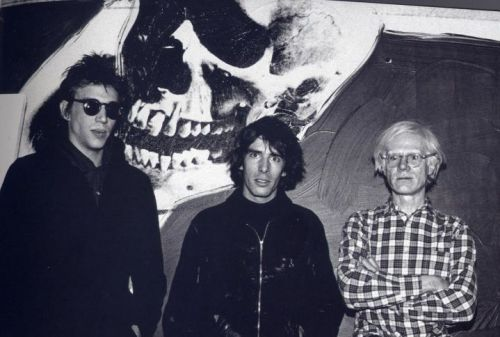 Richard Hell, Legs McNeil and Andy Warhol
