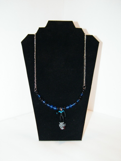 Nightwing Necklace Can Currently be found in my shop. VISIT MY ETSY SHOP If you like any of the items I post, please reblog/forward. I'm trying to get a bit more traffic to my store. Please and thank you! =D