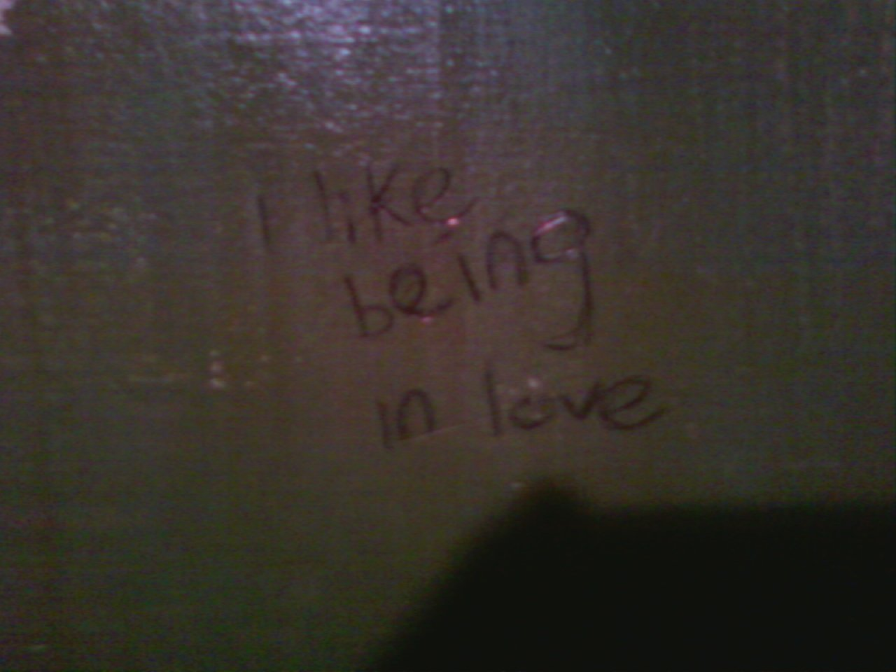 Austin Love Tags. Wall above urinal, men's restroom. East Side Show Room, E. 6th and Medina. Taken August 12, 2010.