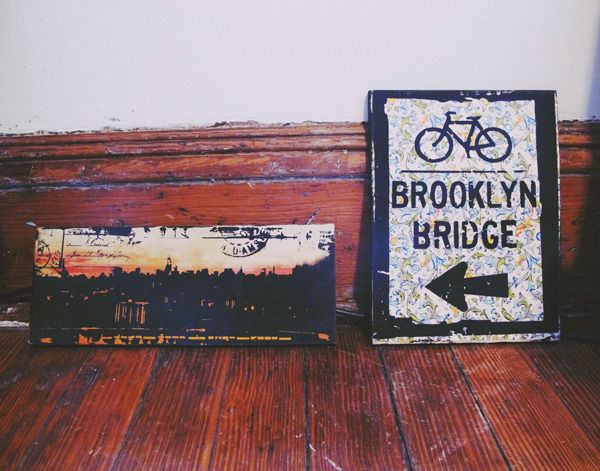 I bought these two wood prints at the Brooklyn Flea last weekend. Cant wait to hang em!
