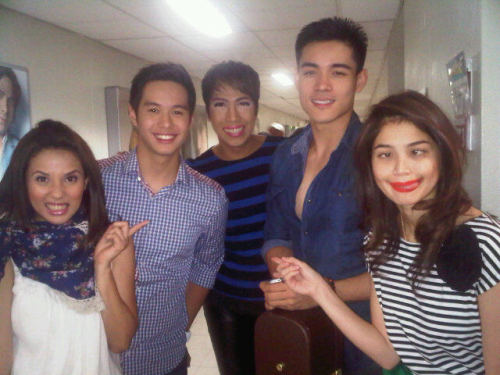 Vice Ganda, Anne Curtis, Karylle, Xian Lim and AJ Perez. You'll always be remembered AJ… :(