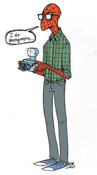 nevver:  Allison Smith  Hipster Spiderman