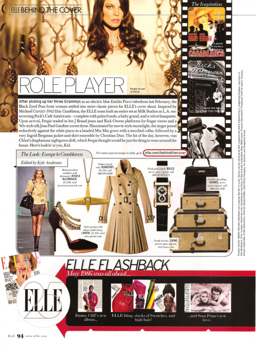 Kyle Anderson Senior Accessories Editor ELLE magazine Shop the Fergie Cover Shoot! TRENDS: Escape to Casablanca