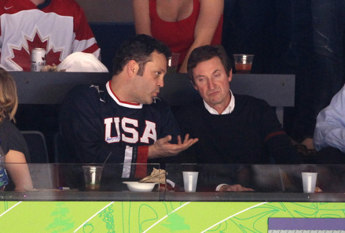 Gretzky Caught in the Awkward Position of Hearing Vince Vaughan's New Material