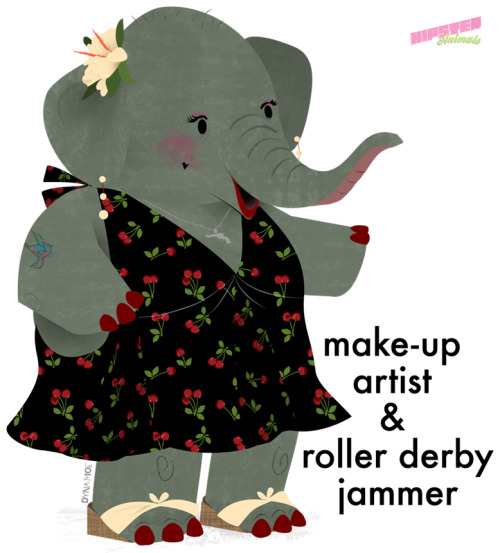 hipster-animals:  make-up artist & roller derby jammer