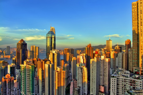 Golden Concrete Sunset | Hong Kong by iprahin on flickr  via ohwhataworld