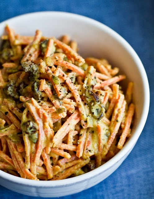 (via Easy Tahini Curried Carrot Salad. Spicy-Sweet. - Healthy. Happy. Life.)