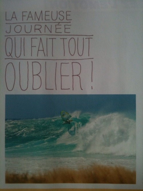Today I got the latest issue of ze french wind magazine which rocks! Awesome photos. Among others, there is Andre Paskowski's article on Minds Wide Open making of, featuring photos from Cabo Verde where they scored some siiiiiick conditions. Photo: Michael Sumereder captured Kauli deep in the pocket at Ali Baba.