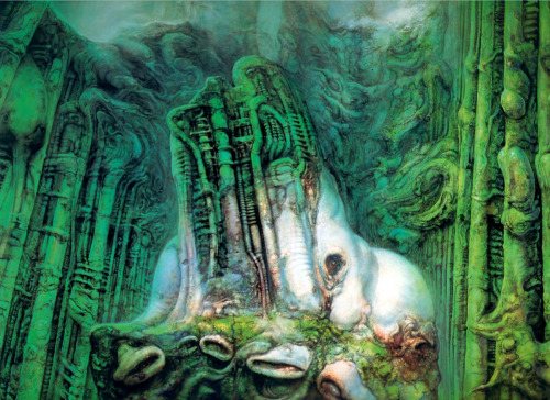 eachit:  The Lord of the Rings II by H.R. Giger.  Pure Genius  Mordor should have been designed by Giger