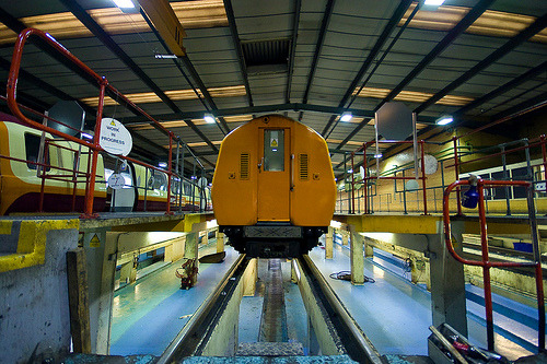 teflon:  Glasgow Subway depot. From a set by Ben Cooper  [this is good]