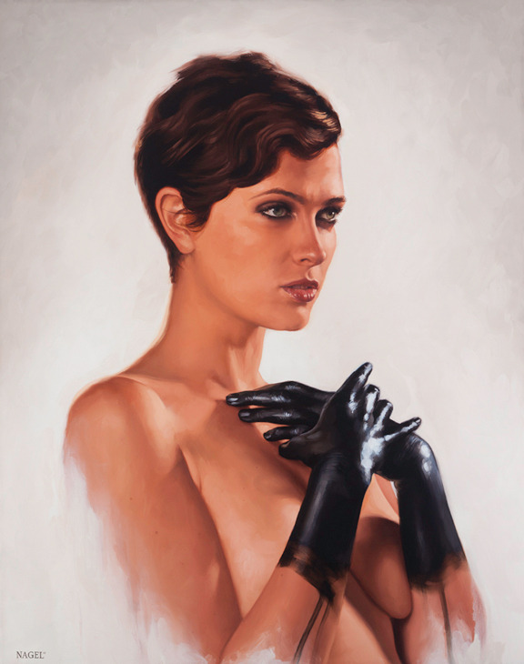 "Check out our buddy artist Aaron Nagel's latest work ""Regal"" 30"" x 38"", oil on canvas, 2011… completed recently for the Empty Magazine show in Sydney, Australia. For more on Aaron visit… http://www.aaronnagel.com/blog/"