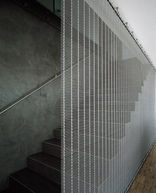 Jarousek Rochová Architekti - Stair detail in the Construct administrative headquarters, Prague 2006.