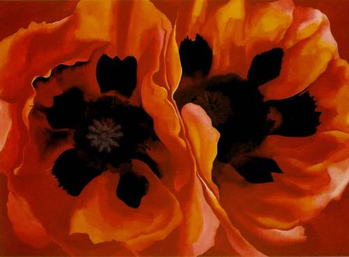 a-r-t-history:  Georgia O'Keeffe, Oriental Poppies, 1928, oil on canvas