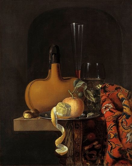 Claes Bergoijs Still Life with a Flask 17th century